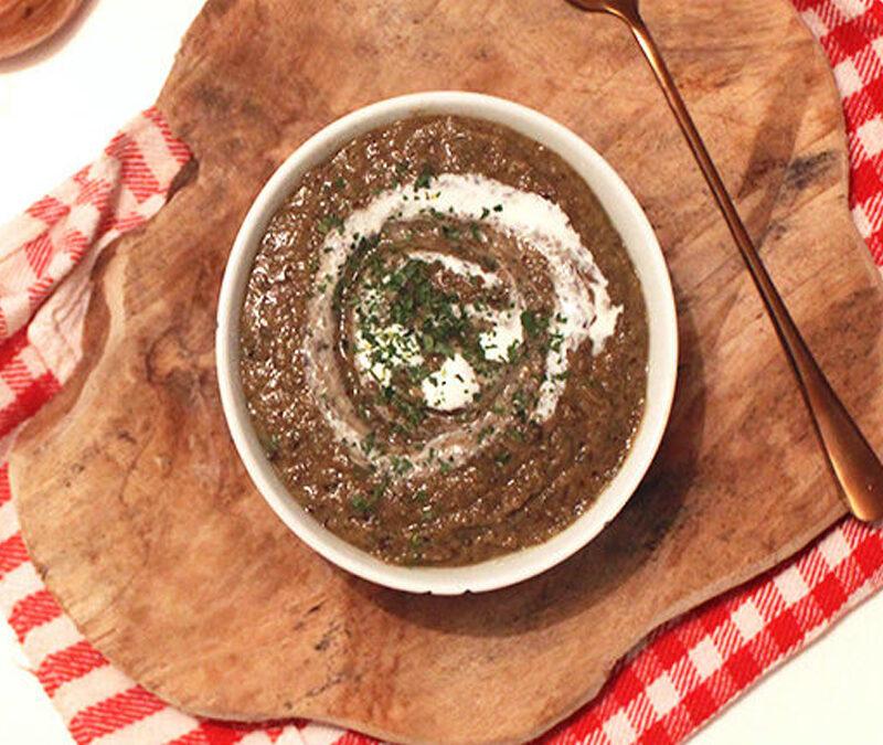 Crème de lentilles vertes
