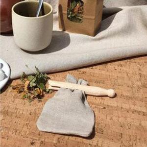 sachet à thé en lin bio