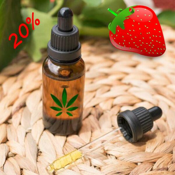 huile CBD Bio 20% arôme fraise